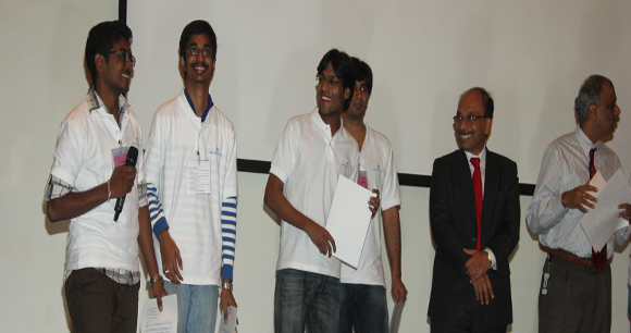 G Thakshak,L.Abhinand from CSE stood Runner Up in Code Vita 2013, TCS National Level Conding Contest