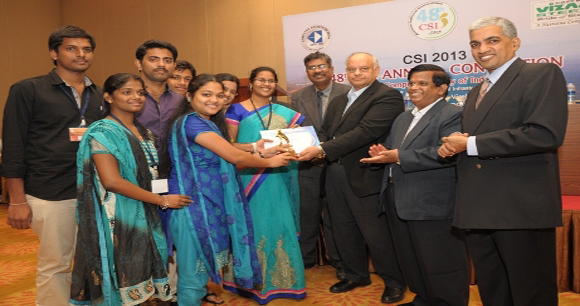 "BEST STUDENT BRANCH AWARD"" for the Region-V(Andhra Pradesh & Karnataka) of the academic year 2012-13"
